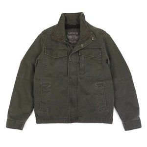 Levi's Olive Green Sherpa Military Field Jacket S